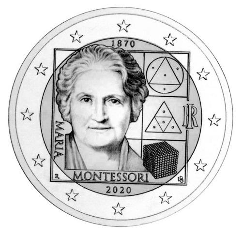 2 Euro commemorativi Maria Montessori 2020