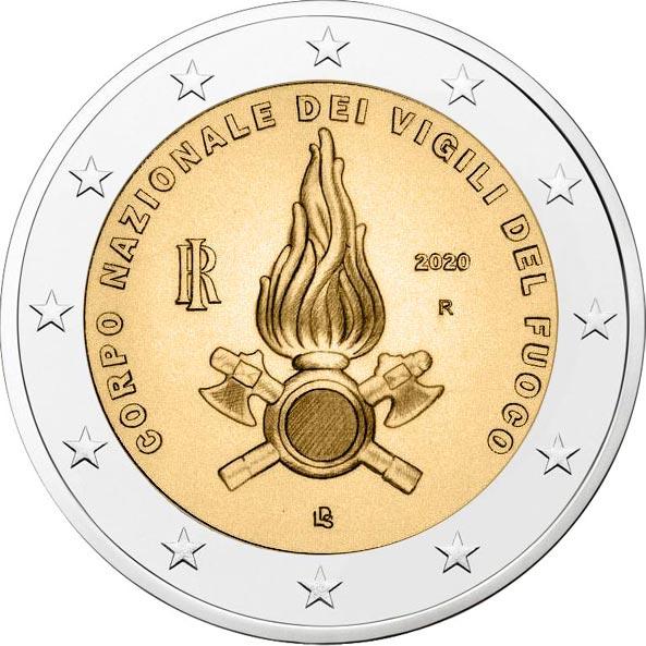 2 Euro commemorativi Corpo Nazionale dei Vigili del Fuoco 2020