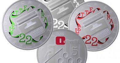 5 Euro Olivetti Lettera 22 – Collezione IPZS 2020