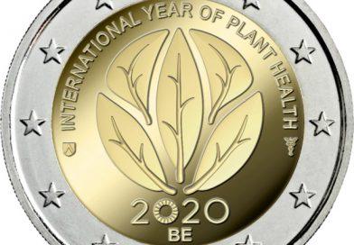 2 Euro commemorativi Belgio 2020 – Anno internazionale della salute delle piante