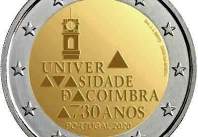 2 Euro commemorativi Portogallo 2020 – 730° anniversario dell'Università di Coimbra