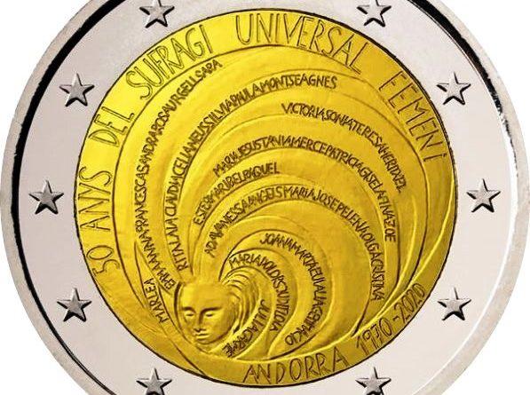2 Euro Andorra 2020 – 50º anniversario del suffragio universale femminile