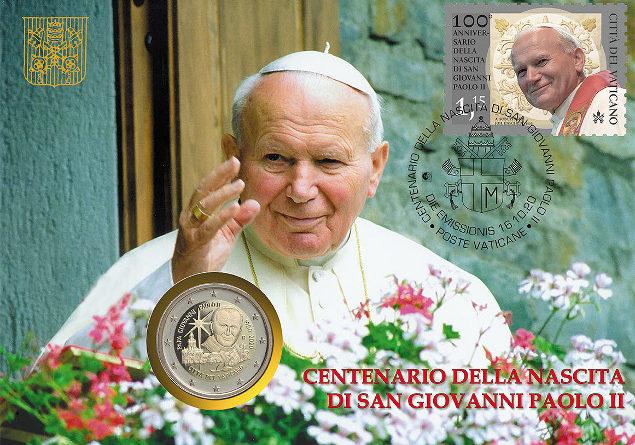 2 Euro Giovanni Paolo II del Vaticano dal 16 Ottobre